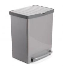 Cubo De Reciclaje Gris 17L + 8 L