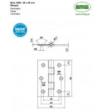 Bisagra Mod.2088 80x60x2.5 MM Inox 18/8 AMIG