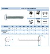 Tornillo Rosca Métrica A2 DIN-933 M8 X 50 15 Unidades