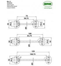 Aldabilla Para Contraventana 100 MM Modelo 6