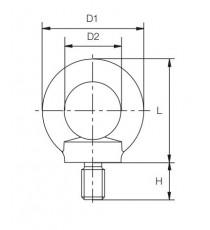 Anilla Elevación Macho M-16 DIN 582