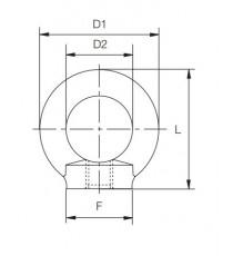 Anilla Elevación Hembra M-08 DIN 582