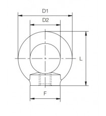 Anilla Elevación Hembra M-16 DIN 582
