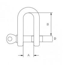 Grillete Recto Galvanizado 06 MM 2 Unidades