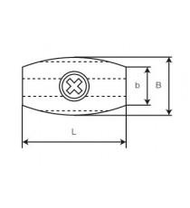 Sujetacables Forma Ovalada 3 MM 4 Unidades