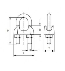 Sujetacables Galvanizado Ø 22 MM M14