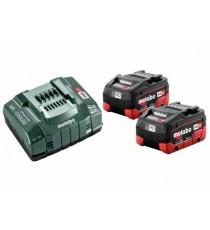 Set 2 Baterías 8 Ah + Cargador Metabo