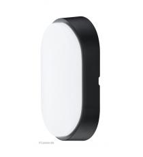 Aplique Oval Exterior Decorativo Led Negro 5,5W IP54
