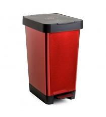 Cubo De Basura Con Pedal 25 Litros Smart Steel Rojo