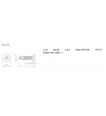 Tornillo Autotaladrante 3,5 X 13 MM DIN-7504-P HP Z