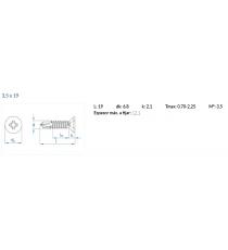 Tornillo Autotaladrante 3,5 X 19 MM DIN-7504-P HP Z