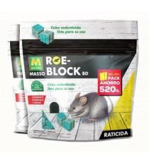 Raticida En Bloque Roe-MassóBlock 260 GR + 260 GR