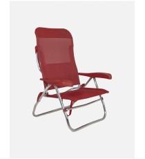 Sillón Cama De Playa Crespo Mod. AL-223 Rojo