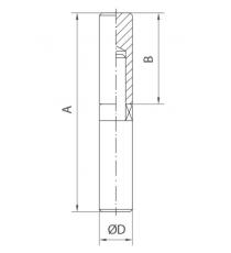 Pernio Torneado Con Rodamiento Axial 25 x 120 MM