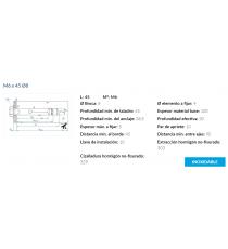 Anclaje Antigiro Cargas Medias M6 x 45 Ø8 Inox 10 Unidades