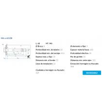 Anclaje Antigiro Cargas Medias M6 x 60 Ø8 Inox 10 Unidades