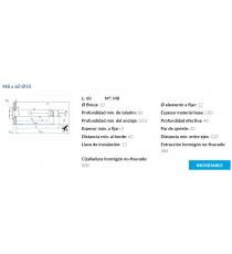 Anclaje Antigiro Cargas Medias M8 x 60 Ø10 Inox 6 Unidades