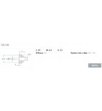 Remache Aluminio Cabeza Alomada 3,2 x 10 MM 50 Unidades