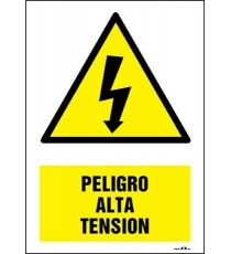 "Señal ""¡Peligro! Alta Tensión"" 42 x 30 cm PVC"