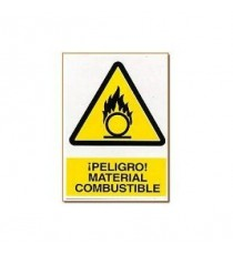 "Señal ""Material combustible"" 42 x 30 cm PVC"