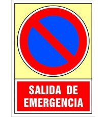 "Señal ""Salida de emergencia"" 42 x 30 cm PVC"