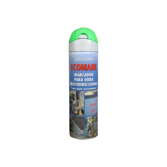 Marcador Fluorescente Obra Spray Verde 500 ML