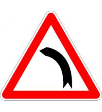 """Señal """"Curva peligrosa a la izquierda"""" 42 x 30 cm PVC"""