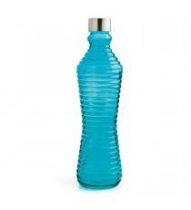 Botella de Vidrio Azul Con Tapa 1 Litro