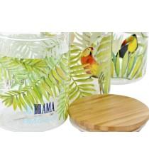 Set 3 Botes de Cristal Bambú Bahamas