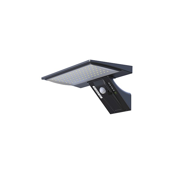 Aplique Solar Led 5 W Negro