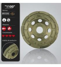 Plato diamantado 100/22.2 mm 2 pistas hormigón/granito LEMAN