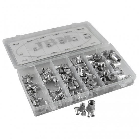 Estuche de Remaches Tuerca de Aluminio 150 Piezas