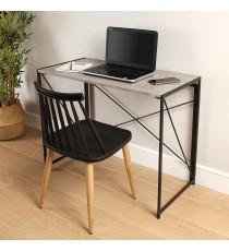 Mesa de Escritorio Plegable 90x45CM Cemento