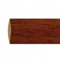 Barra de madera lisa 28 mm 2.40 m