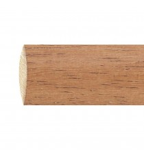Barra de madera lisa 28 mm 2.70 m