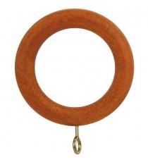 Anilla madera lisa con hembrilla 20 mm (BL) Teca