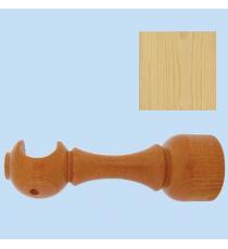 Soporte madera frente largo 28 mm Pino