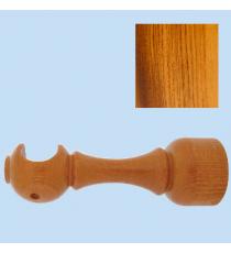 Soporte madera frente largo 28 mm Teca