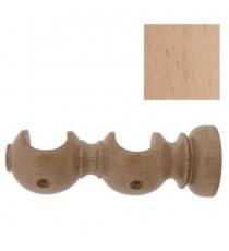 Soporte madera abierto doble 28 mm Pino