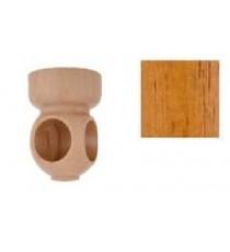 Soporte madera esquina 28 mm Teca