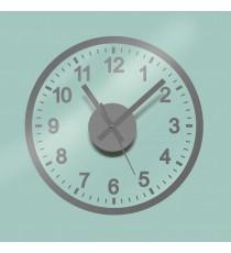 Reloj de Pegatina Color Plata
