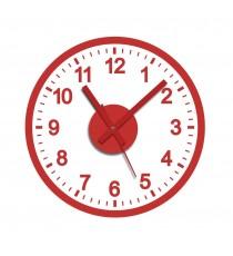 Reloj de Pegatina Color Rojo