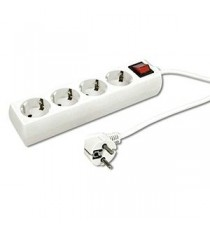 Base 4 tomas 1.5mts + Interruptor 3x1 mm2