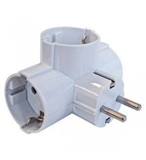 Adaptador triple con salida lateral BL
