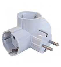 Adaptador triple con salida lateral BL