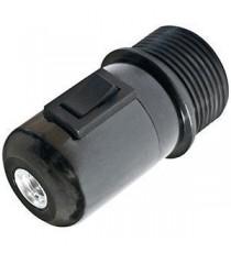 Portalámparas E27 con interruptor Negro