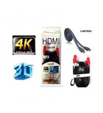 Cable HDMI 3 mts para 3D y 4K