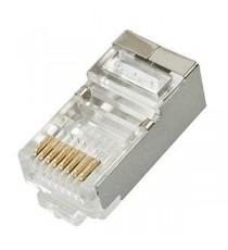 Conector modular 8P8C RJ45 BL 6 Uds
