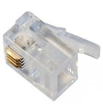 Conector modular 6P4C BL 12 Uds