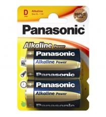 Pila Alcalina D LR20 PANASONIC BL 2 Uds